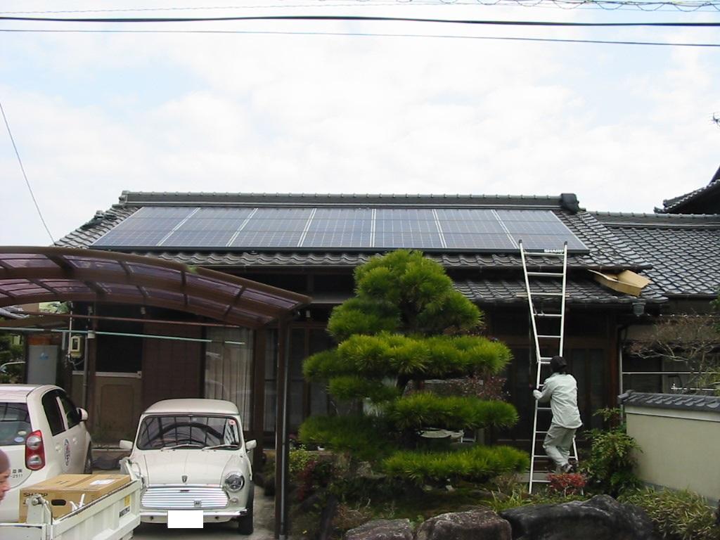 瑞浪市に太陽光発電(S様邸 3.57kwシステム)を施工