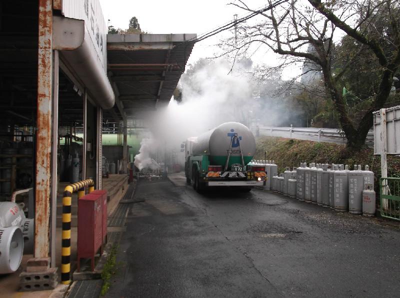 ガス漏れ想定訓練