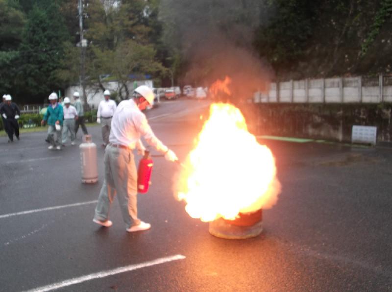 油火災消火訓練