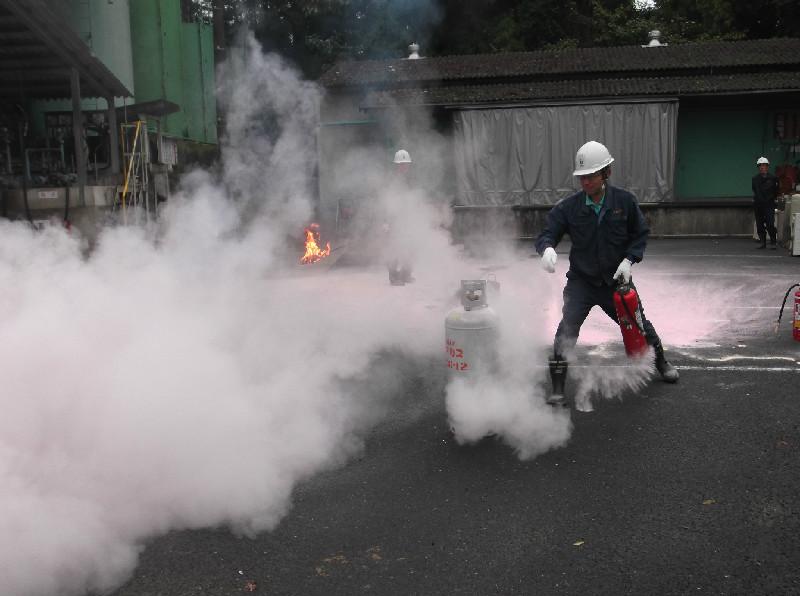 ガス火災消火訓練
