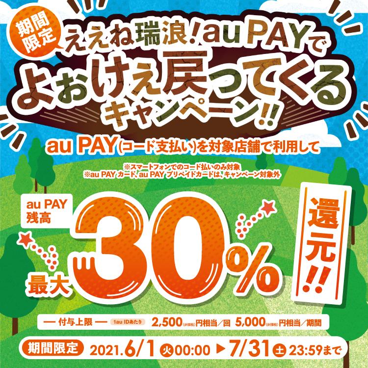 au PAY(エーユーペイ)30%還元キャンペーン開催中!!!8月はdポイントも!