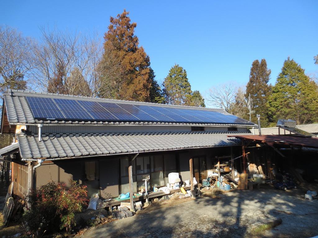 恵那市に太陽光発電(M様邸 9.86kwシステム)を施工