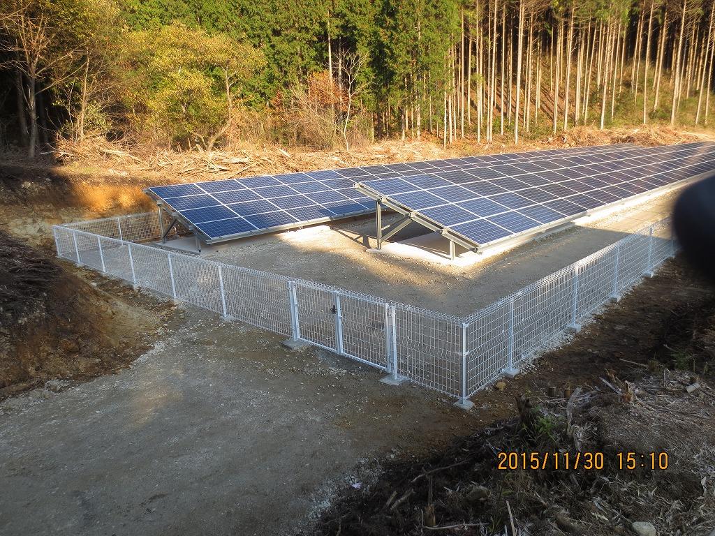 恵那市に太陽光発電(N社様 58.0kwシステム)を施工